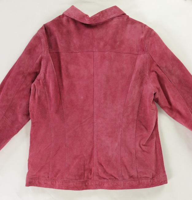 For Joseph Suede Satin Pink Leather Jacket Image 2