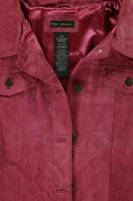 For Joseph Suede Satin Pink Leather Jacket Image 3