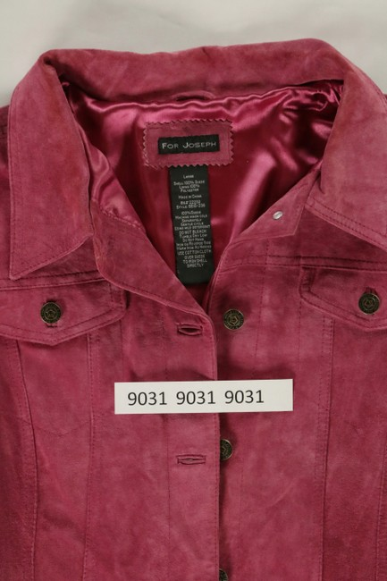 For Joseph Suede Satin Pink Leather Jacket Image 8