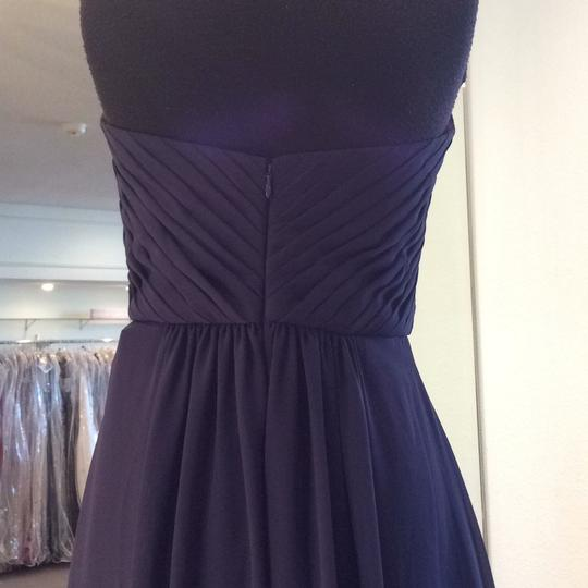 Mori Lee Navy Chiffon 142 Formal Bridesmaid/Mob Dress Size 8 (M) Image 3