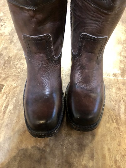 Frye Stitching Campus Distressed Lugg Sole Burnt walnut Boots Image 6