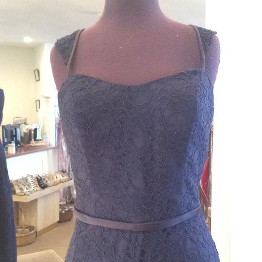 Mori Lee Navy Lace 21505 Formal Bridesmaid/Mob Dress Size 10 (M) Image 1