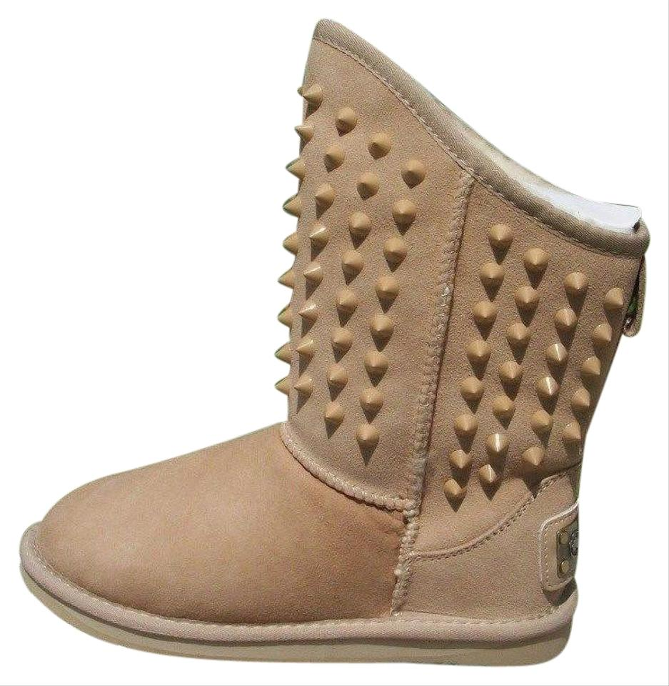 86479ce552d Australia Luxe Collective Sand Beige Leather Studded Pistol Boots ...