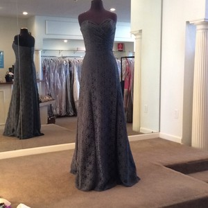 Mori Lee Charcoal Lace 103 Formal Bridesmaid/Mob Dress Size 8 (M)