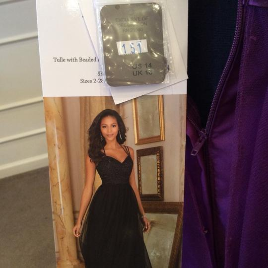 Mori Lee Eggplant Tulle 151 Formal Bridesmaid/Mob Dress Size 12 (L) Image 4