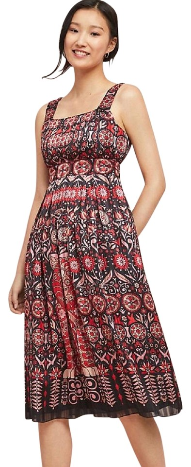 0de29fa2a348 Anthropologie Multicolor Rouge Pleated By Anna Sui Mid-length Casual ...