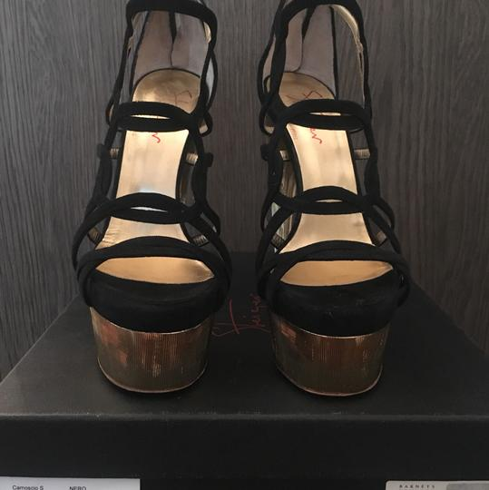Walter Steiger Black and Gold Sandals Image 1