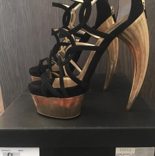 Walter Steiger Black and Gold Sandals Image 2