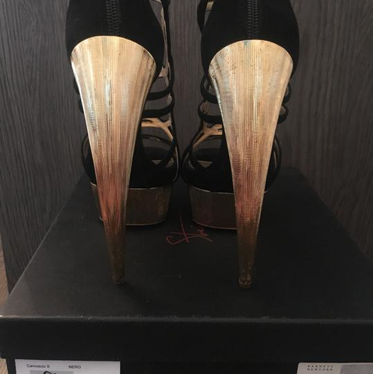 Walter Steiger Black and Gold Sandals Image 3