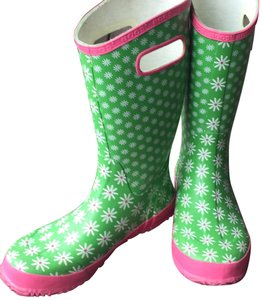Bogs greens and pinks with Daisy pattern Boots