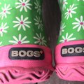 Bogs greens and pinks with Daisy pattern Boots Image 5