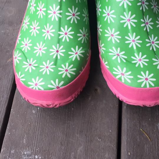Bogs greens and pinks with Daisy pattern Boots Image 9
