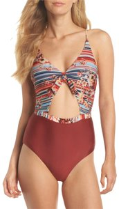 BCA by Rebecca Virtue Love Letters Cutout One-Piece Swimsuit