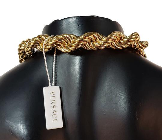 Versace New Versace 24K Gold Plated Medusa Pendant Necklace as seen Bruno Mars Image 9
