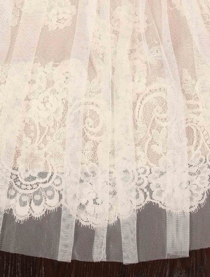 Isabelle Armstrong Silk White/Nude French Alencon Lace and English Net Willow Formal Wedding Dress Size 10 (M) Image 10