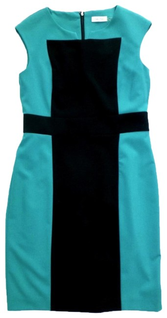 Preload https://img-static.tradesy.com/item/24474205/calvin-klein-teal-black-colo-block-sleeveless-in-mid-length-workoffice-dress-size-10-m-0-1-650-650.jpg