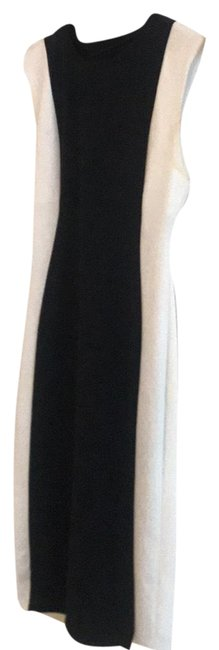 Item - Black and Cream 77302 Mid-length Work/Office Dress Size 12 (L)