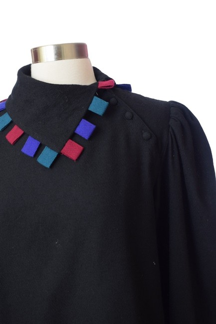 Chaock Vintage Casual Top Black Image 2
