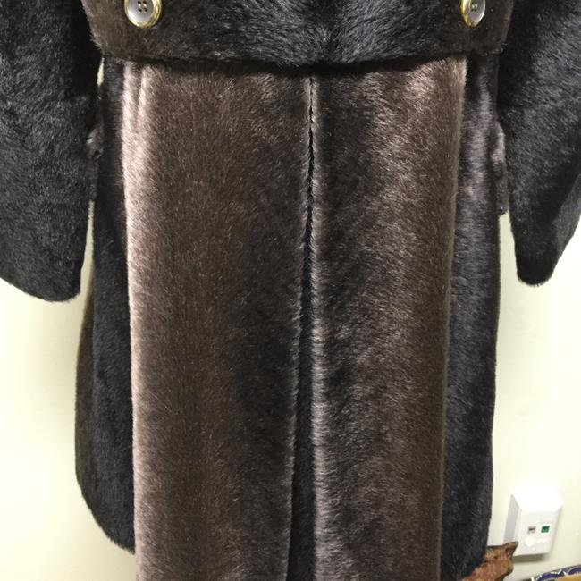 Russel Taylor Faux Vintage Swing Peacoat Trench Fur Coat Image 4