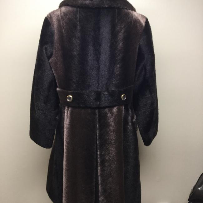 Russel Taylor Faux Vintage Swing Peacoat Trench Fur Coat Image 5