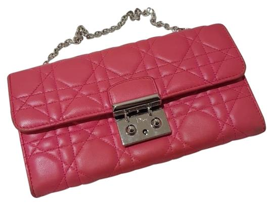 Preload https://img-static.tradesy.com/item/24474276/dior-chain-on-wallet-miss-rendez-vous-clutch-bright-pink-soft-leather-satchel-0-1-540-540.jpg