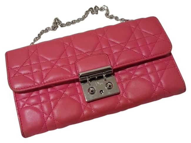 Dior Clutch Chain On Wallet Miss Rendez-vous Bright Pink Soft Leather Satchel Dior Clutch Chain On Wallet Miss Rendez-vous Bright Pink Soft Leather Satchel Image 1