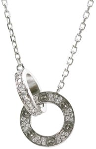 Cartier Cartier 18k White Gold Love Necklace, Diamond-paved