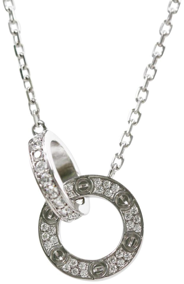 aab3ef7ec25682 Cartier Cartier 18k White Gold Love Necklace, Diamond-paved Image 0 ...
