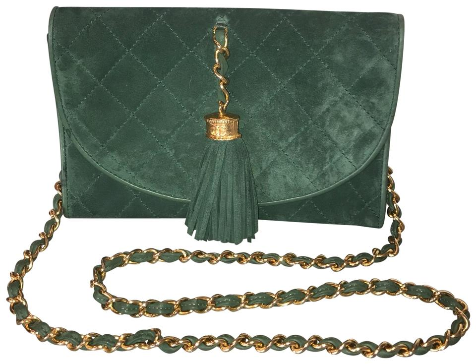 908af0cdc2d2 Chanel Wallet on Chain Kelly Green Suede Cross Body Bag - Tradesy