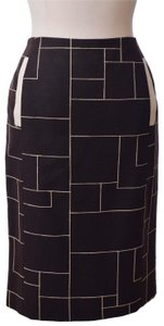 Lela Rose Vintage Work Cocktail Skirt Brown