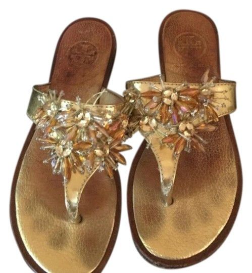 Tory Burch Gold Sandals Image 0