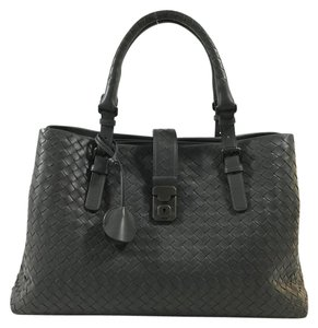 Bottega Veneta Woven Nappa Leather Tote in Gray