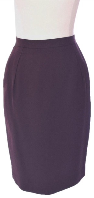 Burberry Vintage Work Casual Skirt Burgundy Image 0