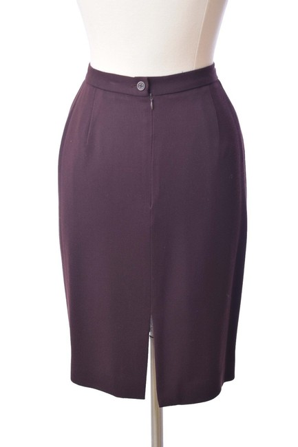 Burberry Vintage Work Casual Skirt Burgundy Image 1