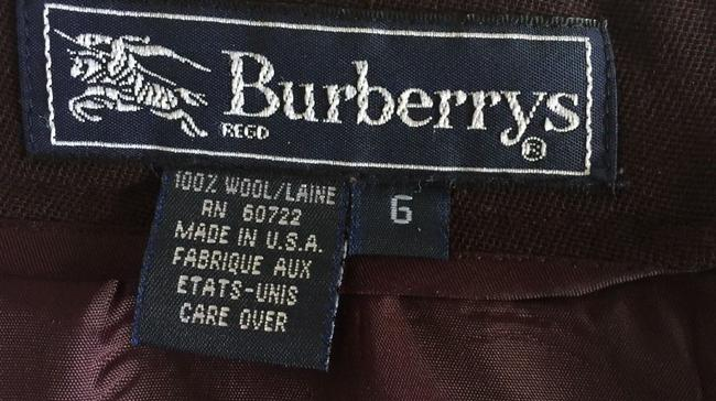 Burberry Vintage Work Casual Skirt Burgundy Image 2