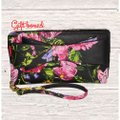 Betsey Johnson / Wristlet Quilted Blush Blush Bow BLACK Clutch Image 5