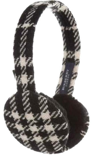 Burberry NWOT Burberry check wool earmuffs Image 0