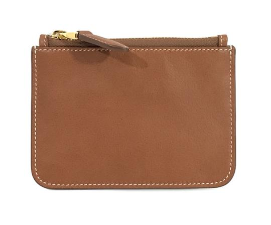 Ralph Lauren Collection NEW RALPH LAUREN Made in Italy Leather Mini Zip Pouch Image 1