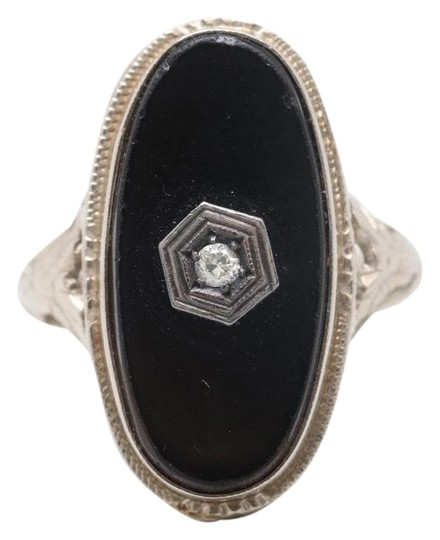 Antique Ring antique onyx ring Image 2
