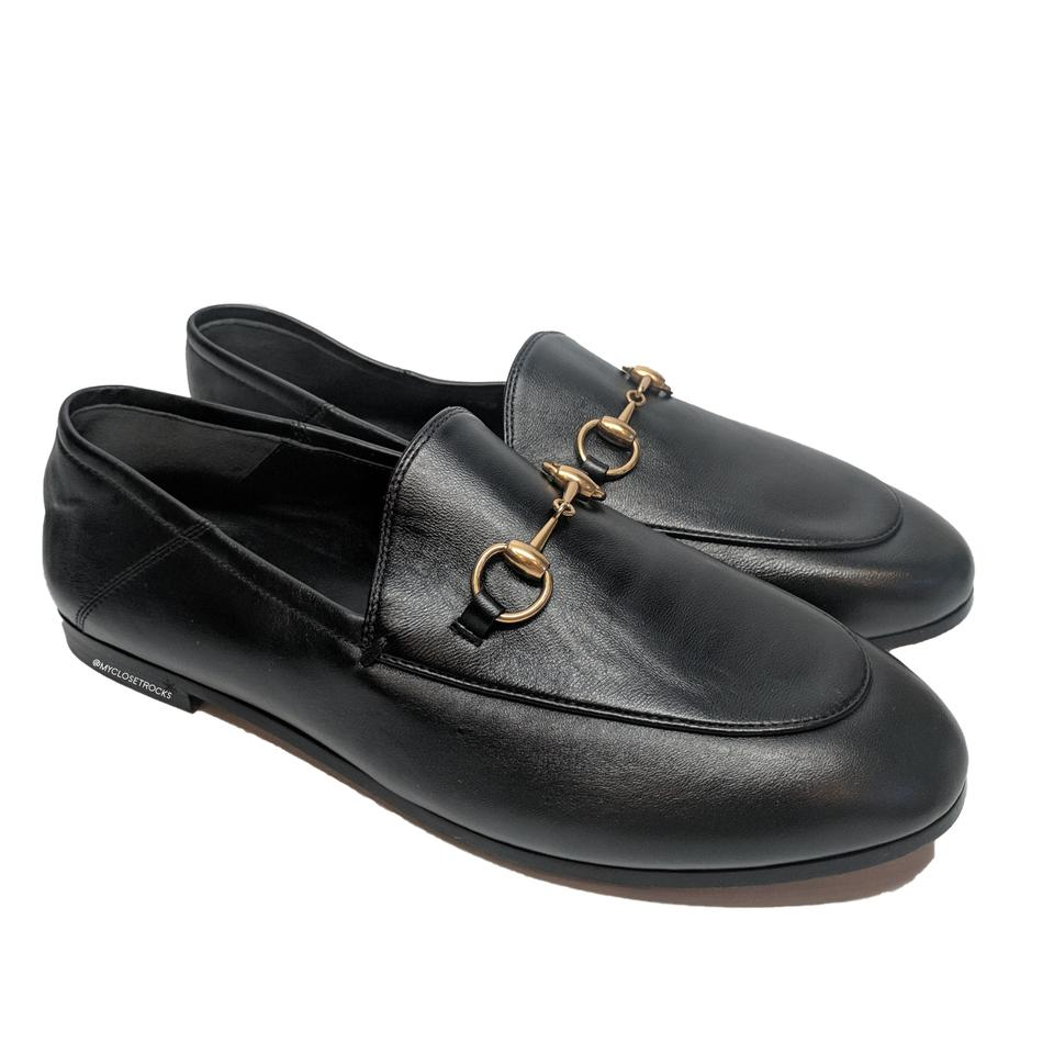 fe59a82875a Gucci Black Brixton Convertible Loafer Women s Leather Flats Size EU ...