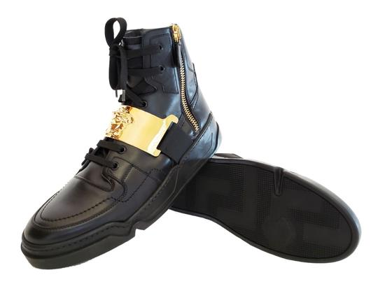 Versace Leather Black Athletic Image 3