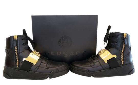 Versace Leather Black Athletic Image 5