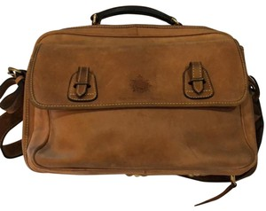 The Territory Ahead Messenger Ralph Lauren Distressed Leather Brown Travel Bag