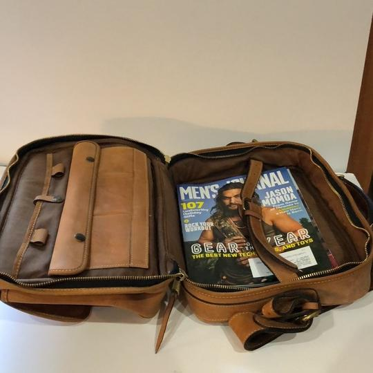 The Territory Ahead Messenger Ralph Lauren Distressed Leather Brown Travel Bag Image 1