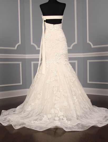 Liancarlo Ivory/Cream Chantilly Lace Guipure Lace 6891 Formal Wedding Dress Size 10 (M) Image 10