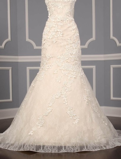 Liancarlo Ivory/Cream Chantilly Lace Guipure Lace 6891 Formal Wedding Dress Size 10 (M) Image 5