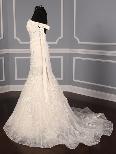 Liancarlo Ivory/Cream Chantilly Lace Guipure Lace 6891 Formal Wedding Dress Size 10 (M) Image 6