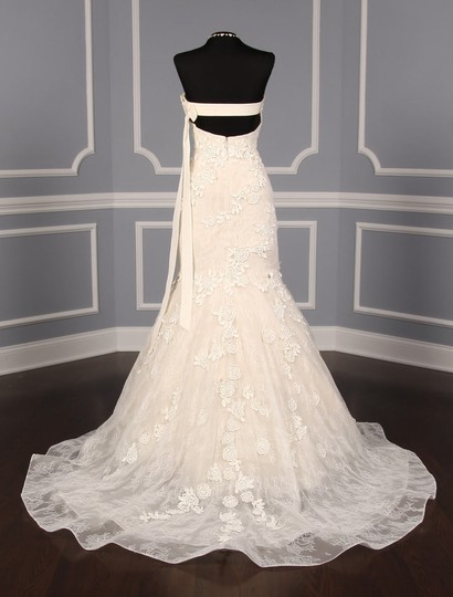 Liancarlo Ivory/Cream Chantilly Lace Guipure Lace 6891 Formal Wedding Dress Size 10 (M) Image 7