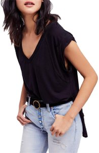 Free People Great For Layering T Shirt Black