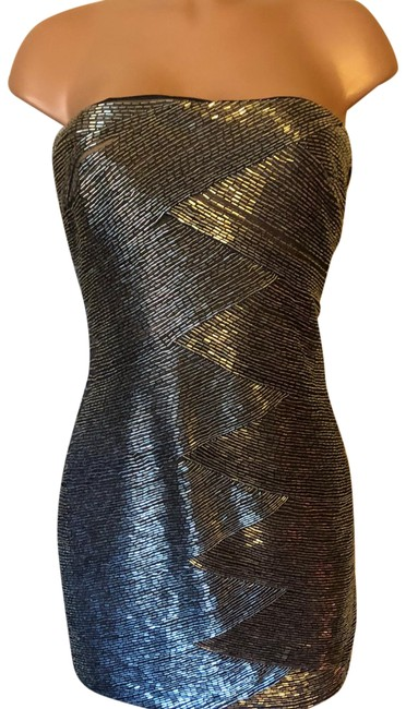 Item - Silver Unknown Short Cocktail Dress Size 10 (M)